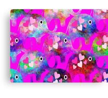 Girly Elephants Canvas Print