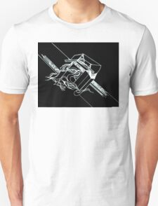 Multi Dimensional Abstract Ink Inverted Unisex T-Shirt