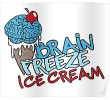 Brain Freeze Ice Cream Logo Poster