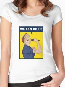 Buffy, the riveter. WE CAN DO IT Women's Fitted Scoop T-Shirt