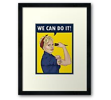 Buffy, the riveter. WE CAN DO IT Framed Print