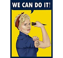 Buffy, the riveter. WE CAN DO IT Photographic Print