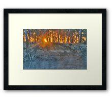 Foggy Goulburn Sunrise Framed Print