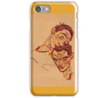 Egon Schiele - Double Self Portrait 1915 iPhone Case/Skin