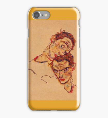 Egon Schiele - Double Self Portrait 1915 iPhone Case/Skin