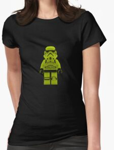 Lime Green /Yellow Lego Storm Trooper Womens Fitted T-Shirt