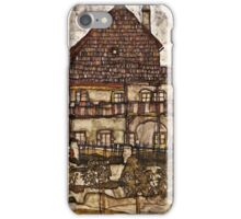 Egon Schiele - House with Shingle Roof (Old House II) (1915)  iPhone Case/Skin