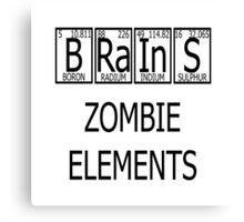 Brains Zombie Elements Periodic Table Canvas Print