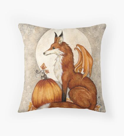Fox Moon Throw Pillow