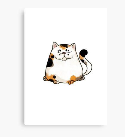Sly cat Canvas Print