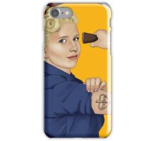 Buffy, the riveter. MAY BUFFY PROTECT YOU iPhone Case/Skin
