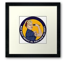 Buffy, the riveter. MAY BUFFY PROTECT YOU Framed Print