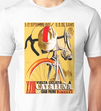 CATALUNA GRAND PRIX; Vintage Bicycle Advertising Unisex T-Shirt