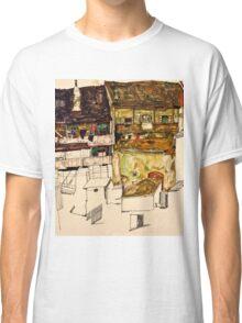 Egon Schiele - Old Houses in Krumau, 1914 (1914)  Classic T-Shirt