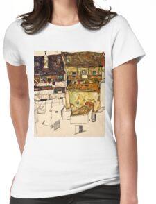 Egon Schiele - Old Houses in Krumau, 1914 (1914)  Womens Fitted T-Shirt