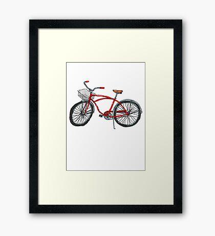 Vintage Pedal Power Framed Print