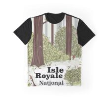 Isle Royale National Park vintage travel poster Graphic T-Shirt