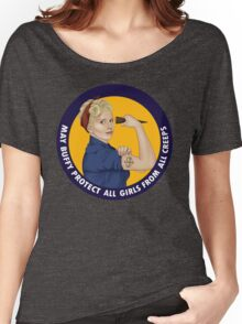 Buffy, the riveter. MAY BUFFY PROTECT YOU Women's Relaxed Fit T-Shirt