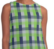 Pacific Northwest Plaid Contrast Tank
