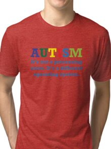 Autism, It's Not A Processing Error. It's A Different Operating System. Tri-blend T-Shirt