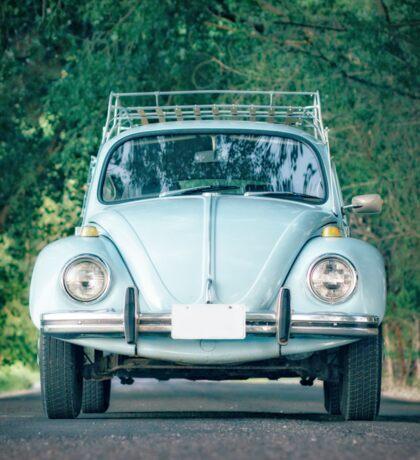 Classic Blue Beetle Car Sticker