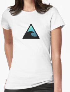 Tsunami Road Sign Womens Fitted T-Shirt