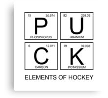 PUCK Elements Of Hockey Canvas Print