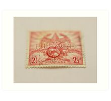 1945 Australia Peace Stamp  Art Print