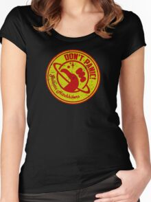 Galactic Hitchhikers Red and Gold Women's Fitted Scoop T-Shirt