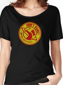 Galactic Hitchhikers Red and Gold Women's Relaxed Fit T-Shirt