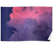 Way Up High, With Pretty Pink Clouds In The Sky  Poster