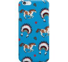 Native American pattern on blue iPhone Case/Skin