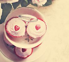 Cupcakes and Hearts by Kate Mularczyk