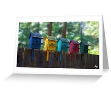 Birdhouse Condos Greeting Card