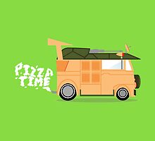 Pizza Time - Teenage Mutant Ninja Turtles Van by SlapdashJohnson