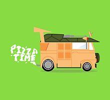 Pizza Time - Teenage Mutant Ninja Turtles Van by SlapdashJohnson