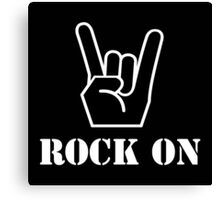 Rock On Canvas Print