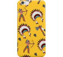 Native American pattern on yellow iPhone Case/Skin