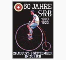 BICYCLE RACES; Jahre Vintage Advertising Print Baby Tee