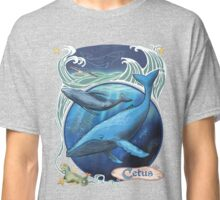 Humpback Whales Constellation Cetus with Sea Monster Classic T-Shirt