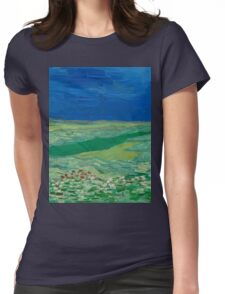 Vincent Van Gogh - Wheatfields Under Thunderclouds, 1890 Womens Fitted T-Shirt