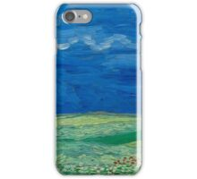 Vincent Van Gogh - Wheatfields Under Thunderclouds, 1890 iPhone Case/Skin