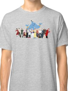 NO BACKGROUND Even More Minimalist Robin Williams Character Tribute Classic T-Shirt