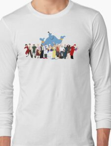 NO BACKGROUND Even More Minimalist Robin Williams Character Tribute Long Sleeve T-Shirt