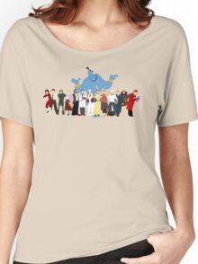 NO BACKGROUND Even More Minimalist Robin Williams Character Tribute Women's Relaxed Fit T-Shirt
