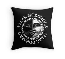 Valar Morghulis, Valar Dohaeris (White) Throw Pillow