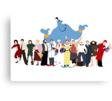 NO BACKGROUND Even More Minimalist Robin Williams Character Tribute Canvas Print