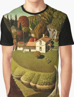 Grant Wood - Birthplace Of Herbert Hoover  Graphic T-Shirt