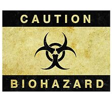 Caution Biohazard Sign by surgedesigns