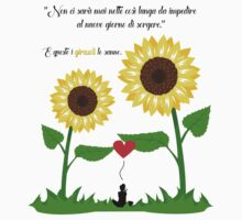 Double Sunflower Design by Mommotti Kids Tee